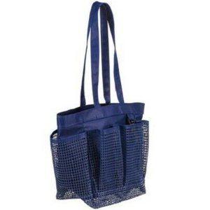 NWT Room Essentials Navy Blue Mesh Shower Caddy
